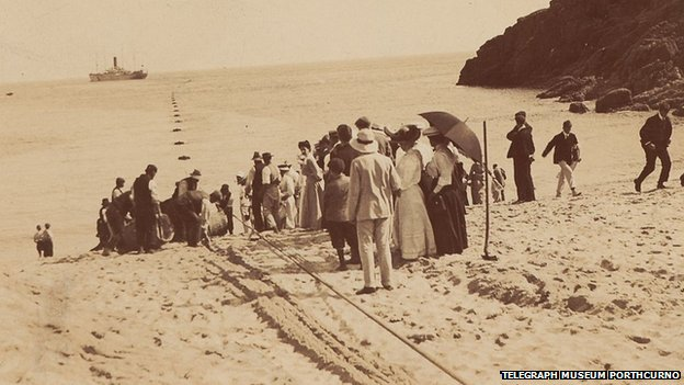 Landing of a cable (Telegraph Museum Porthcurno)