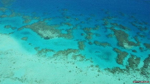 File photo: An aerial view of the Great Barrier Reef