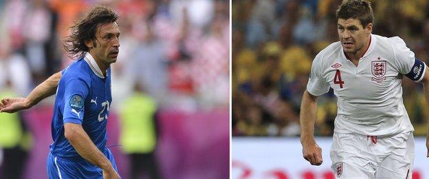 Andrea Pirlo v Steven Gerrard