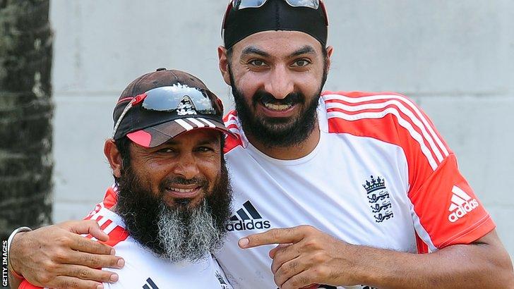 Mushtaq Ahmed and Monty Panesar