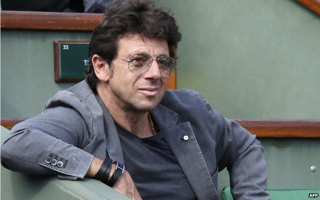 Patrick Bruel at Roland Garros (5 June)