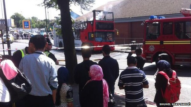 Bus fire Sparkbrook