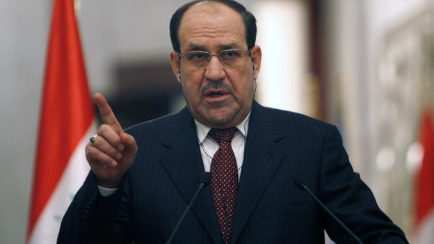 Iraqi Prime Minister Nouri Maliki gives a press conference on 13 January, 2014