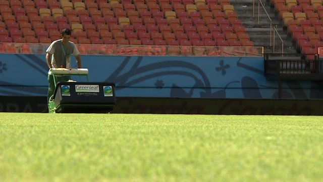 Manaus Pitch being mowed