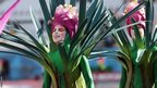 Dancers dressed as trees and flowers paid tribute to Brazil's nature in one of three acts of the World Cup opening ceremony at the Arena de Sao Paulo