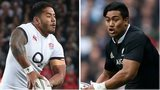 England winger Manu Tuilagi and New Zealand counterpart Julian Savea