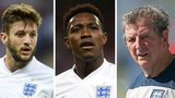 England's Adam Lallana, Danny Welbeck and manager Roy Hodgson