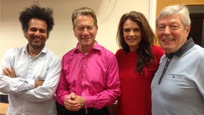 Sarfraz Manzoor, Michael Portillo, Annabel Croft and Alan Johnson