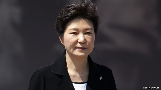 South Korean President Park Geun-Hye attends the ceremony marking Korean Memorial Day at the Seoul National Cemetery on 6 June, 2014 in Seoul, South Korea