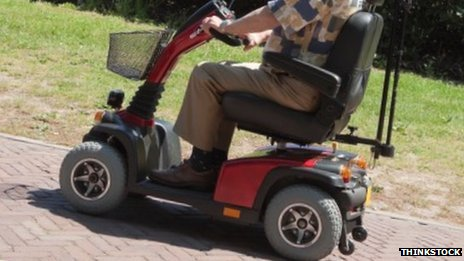 Mobility scooter. Pic: Thinkstock