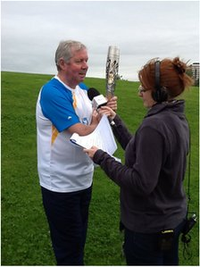Brendan Foster and Gilly Hope