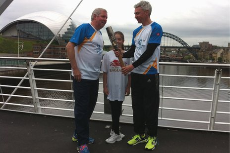 Brendan Foster, Ciara Madin and Jonathan Edwards