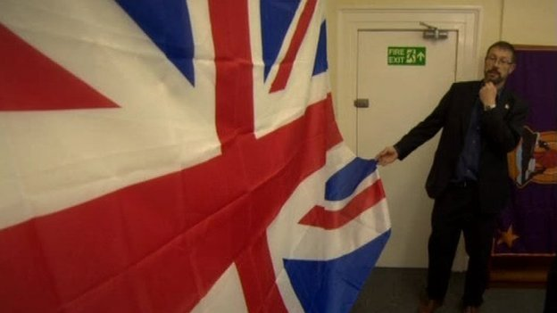 Dr Dominic Bryan from Queen's University, Belfast, carried out a major study examining the flying of flags in Northern Ireland