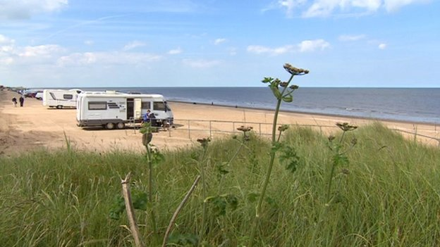 Huttoft car park