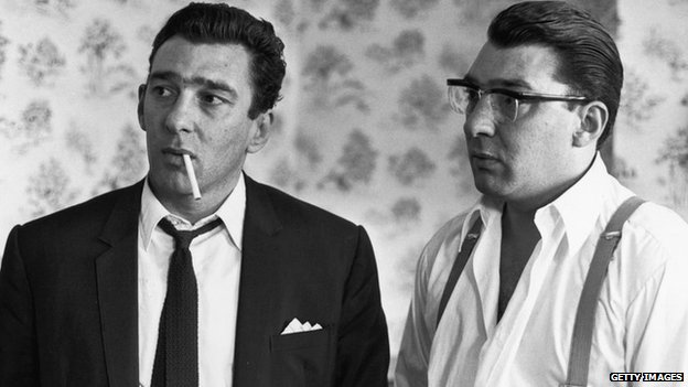 Reggie and Ronnie Kray