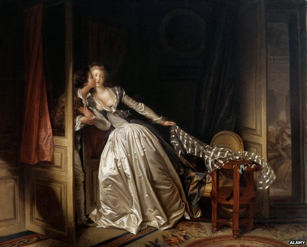 """The Stolen Kiss"",  Jean-Honore Fragonard"