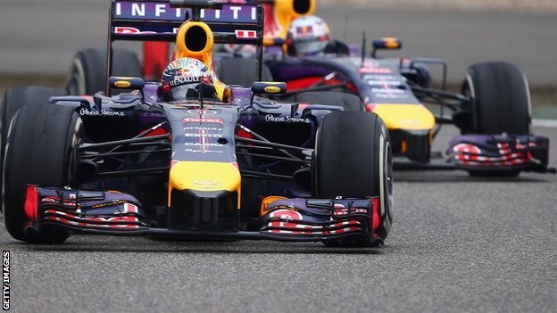 Red Bull team: Sebastian Vettel and Daniel Ricciardo