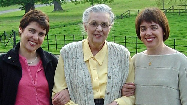 Sarah James, Jean James and Joanna Barker in 2004