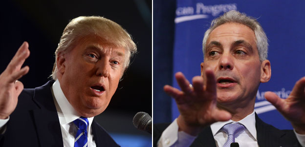 Donald Trump and Rahm Emanuel