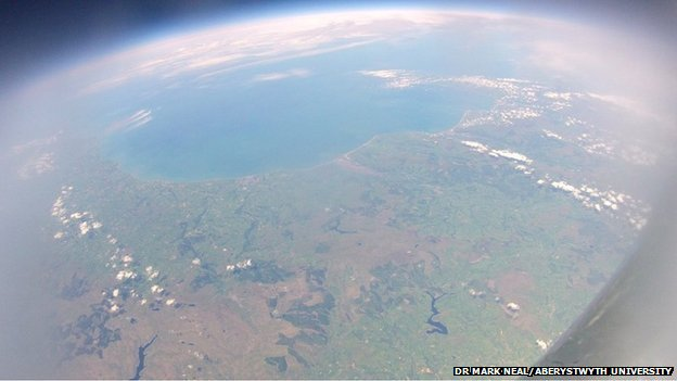 Wales as seen from the pupils' space capsule
