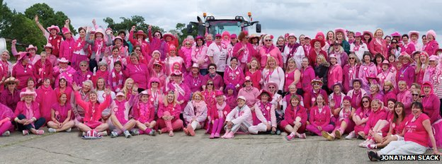 Ladies of the 2012 Pink Ladies Tractor Road Run