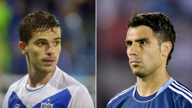 Gago (left) and Fernandez of Argentina
