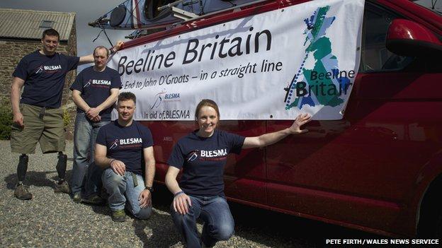 The four-person Beeline Britain team
