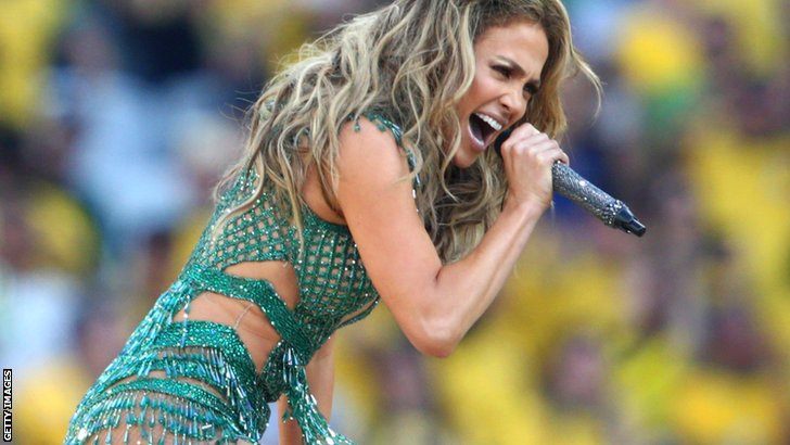 Jennifer Lopez at the World Cup opening ceremony