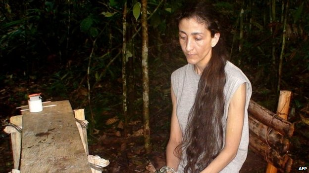 Photograph taken at an undisclosed place and released on November 30, 2007 by the Colombian presidential press office of former presidential candidate Ingrid Betancourt,