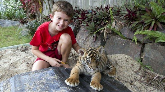 Cub with Kynan