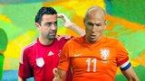 Xavi, Arjen Robben