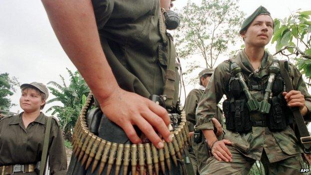 Farc rebels in April 1998