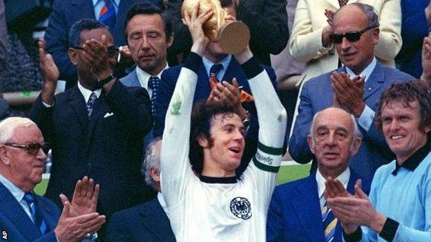Franz Beckenbauer in 1974