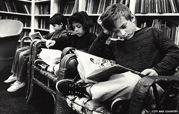 The library, circa 1990