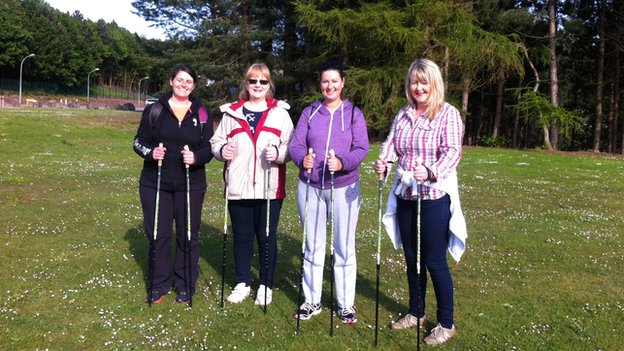 Nordic Walking group at NHS Tayside