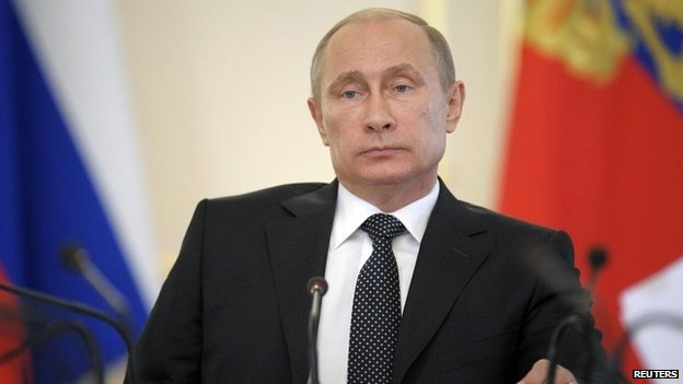 Russian President Vladimir Putin chairs a meeting in Moscow - 11 June 2014