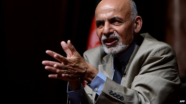 Ashraf Ghani Ahmadzai speaks during a rally in Kabul - 11 June 2014