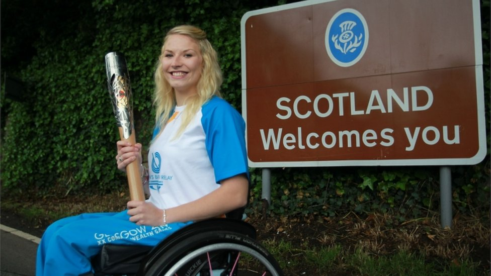 Samantha Kinghorn is an promising young Scottish athlete who first began wheelchair racing in 2012