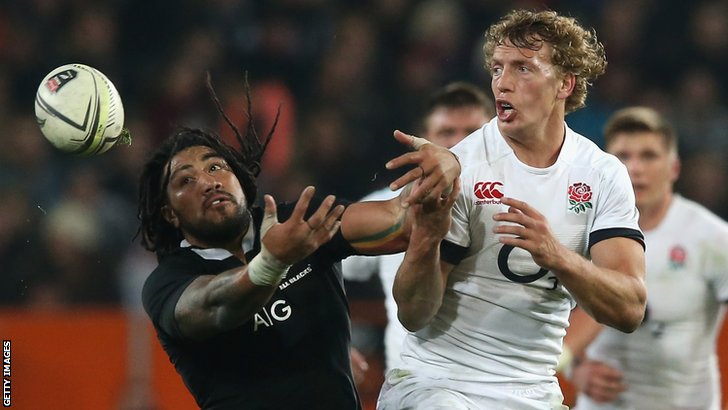 New Zealand's Ma'a Nonu and England's Billy Twelvetrees