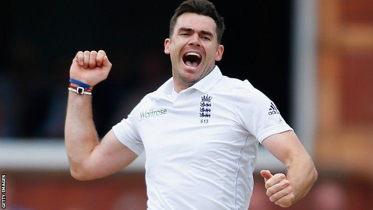 England's James Anderson removes Sri Lanka opener Kaushal Silva