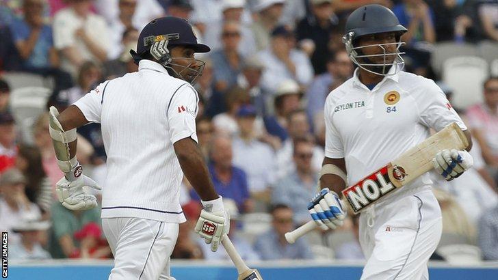 Sri Lanka's Mahela Jayawardene and Kumar Sangakkara