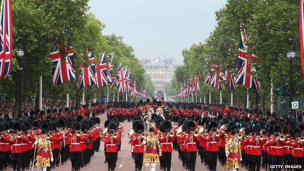 Trooping the Colour on 14 June 2014