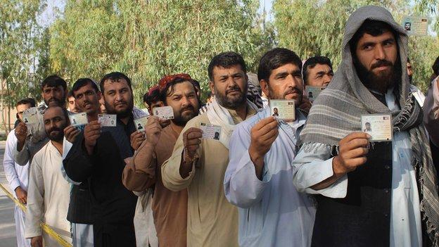 Election day in Kandahar