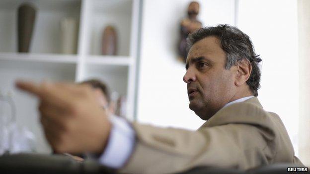 Senator Aecio Neves, 16 April 2014