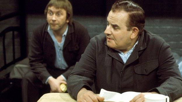 Sam Kelly and Ronnie Barker in Porridge (1977)