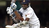 Mahela Jayawardene (right) congratulates Kumar Sangakkara on his century for Sri Lanka at Lord's