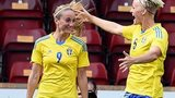 Kosovare Asllani takes the plaudits after her first goal