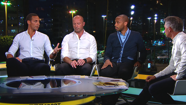 BBC Pundits Rio Ferdinand, Alan Shearer and Thierry Henry