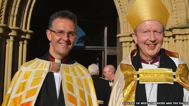 The Dean of Ripon, the Very Revd John Dobson, with the Bishop of Knaresborough, Rt Revd James Bell
