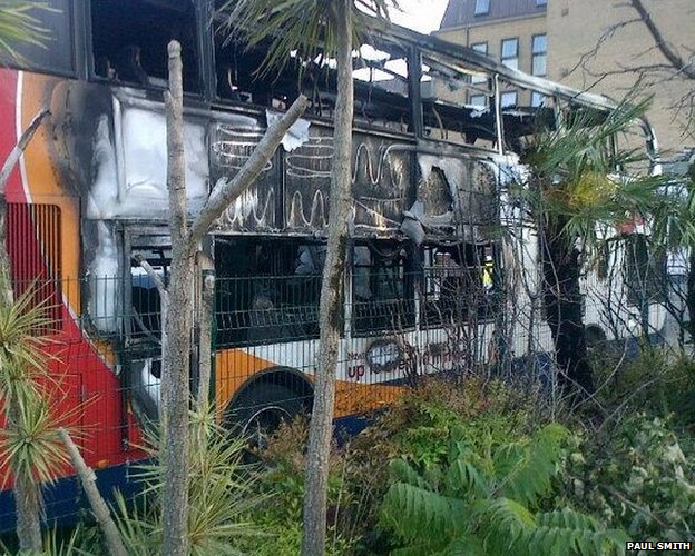 Damaged bus (Pic: Paul Smith)